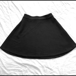 Banana Republic Black Knit Skater Skirt Sz4